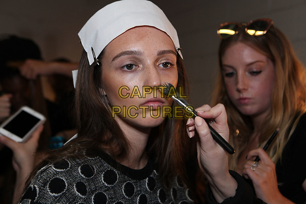 Mimi Prober<br /> backstage at fashion show during London Fashion Week Spring Summer 2018 in London, England September 2017.<br /> CAP/GOL<br /> &copy;GOL/Capital Pictures