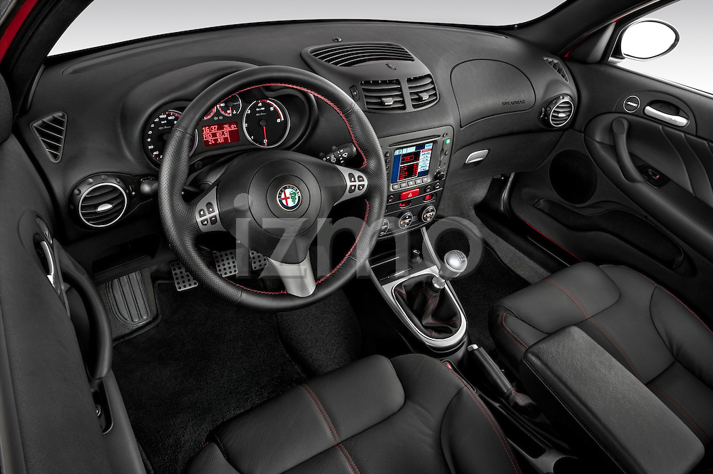High angle dashboard view of a 2000 - 2010 Alfa Romeo 147 5 Door Ducati Corse Hatchback.