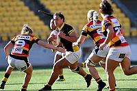 Amanda Rasch of Wellington during the Farah Palmer Cup - Wellington Pride v Waikato at Westpac Stadium, Wellington, New Zealand on Saturday 28 September 2019. <br /> Photo by Masanori Udagawa. <br /> www.photowellington.photoshelter.com