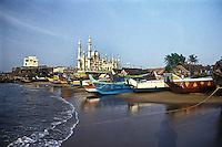A fishing village at Kovalam beach, Trivendrum, Kerala, India