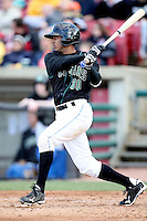 Alex Llanos (30) of the Kane County Cougars during a game against the Clinton LumberKings at Elfstrom Stadium on April 23, 2011 in Geneva, Illinois. Photo by Chris Proctor/Four Seam Images