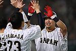 Yoshitomo Tsutsugo (JPN), <br /> MARCH 15, 2017 - WBC : 2017 World Baseball Classic Second Round Pool E Game between Japan - Israel at Tokyo Dome in Tokyo, Japan. <br /> (Photo by Sho Tamura/AFLO SPORT)