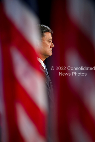 Chicago, IL - December 7, 2008 -- Retired Army General Eric K. Shinseki at a news conference in Chicago where United States President-elect Barack Obama announced him as his veteran's affairs secretary nominee..Credit: Ralf-Finn Hestoft - Pool via CNP