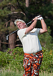 August 3, 2012: John Daly tees off on the 16th hole during the second round of the 2012 Reno-Tahoe Open Golf Tournament at Montreux Golf & Country Club in Reno, Nevada.