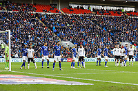 Cardiff and Swansea players wait for a Swansea corner kick during the Sky Bet Championship match between Cardiff City and Swansea City at the Cardiff City Stadium, Cardiff, Wales, UK. Sunday 12 January 2020