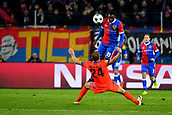 31st October 2017, St Jakob-Park, Basel, Switzerland; UEFA Champions League, FC Basel versus CSKA Moscow; Dimitri Oberlin of FC Basel challenges Vasiliy Berezutskiy of CSKA Moscow for the ball