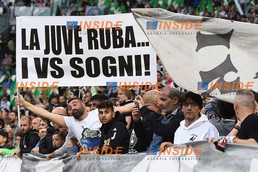 striscione tifosi Juventus banner<br /> Torino 14-05-2016 Stadio Olimpico Football Calcio Serie A 2015/2016 Juventus-Sampdoria. Foto Matteo Gribaudi / Image Sport / Insidefoto