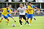 2018-07-11 / Voetbal / Seizoen 2018-2019 / Union Saint-Gilloise - KV Mechelen / Gustav Engvall (KVM) tussen Pietro Perdichizzi (l.) en Frederico Vega<br /> <br /> ,Foto: Mpics