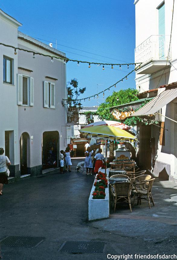 Italy: Capri--Street scene, Anacapri. Capri is an Italian island on the Gulf of Naples. A resort since the Roman Republic. Photo '83.