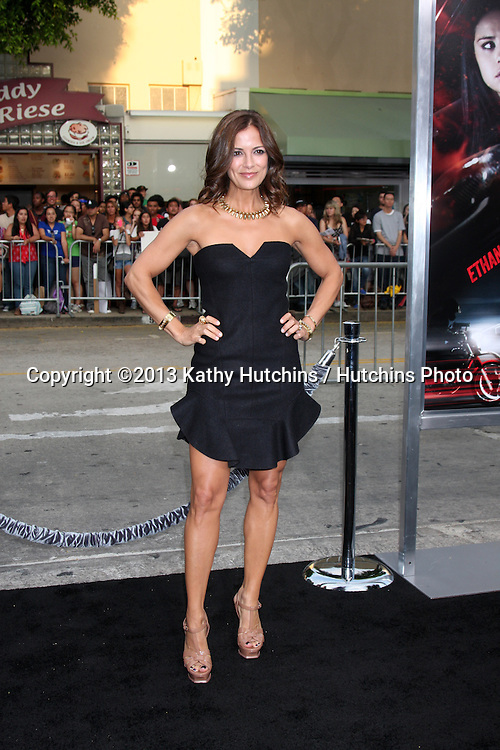 """LOS ANGELES - AUG 26:  Rebecca Budig at the """"Getaway"""" Premiere at the Village Theater on August 26, 2013 in Westwood, CA"""