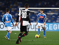 26th January 2020; Stadio San Paolo, Naples, Campania, Italy; Serie A Football, Napoli versus Juventus; Giovanni Di Lorenzo of Napoli comes out of defense with the ball