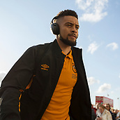 8th September 2017, Pride Park Stadium, Derby, England; EFL Championship football, Derby County versus Hull City; Michael Hector of Hull City arriving at Pride Park Stadium before the match