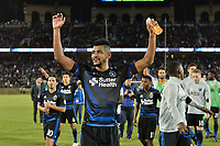 Stanford, CA - Saturday July 01, 2017: Anibal Godoy during a Major League Soccer (MLS) match between the San Jose Earthquakes and the Los Angeles Galaxy at Stanford Stadium.