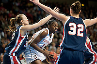 SPOKANE, WA - MARCH 28, 2011: Chiney Ogwumike, Stanford Women's Basketball vs Gonzaga, NCAA West Regional Finals at the Spokane Arena on March 28, 2011.