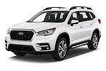 2019 Subaru Ascent Limited 5 Door SUV angular front stock photos of front three quarter view