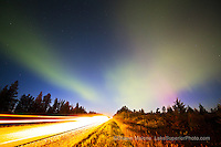northern lights, aurora over Seney Stretch, Upper Peninsula of Michigan