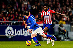 Benat Etxebarria Urkiaga of Athletic de Bilbao (L) is tackled by Thomas Teye Partey of Atletico de Madrid during the La Liga 2018-19 match between Atletico de Madrid and Athletic de Bilbao at Wanda Metropolitano, on November 10 2018 in Madrid, Spain. Photo by Diego Gouto / Power Sport Images