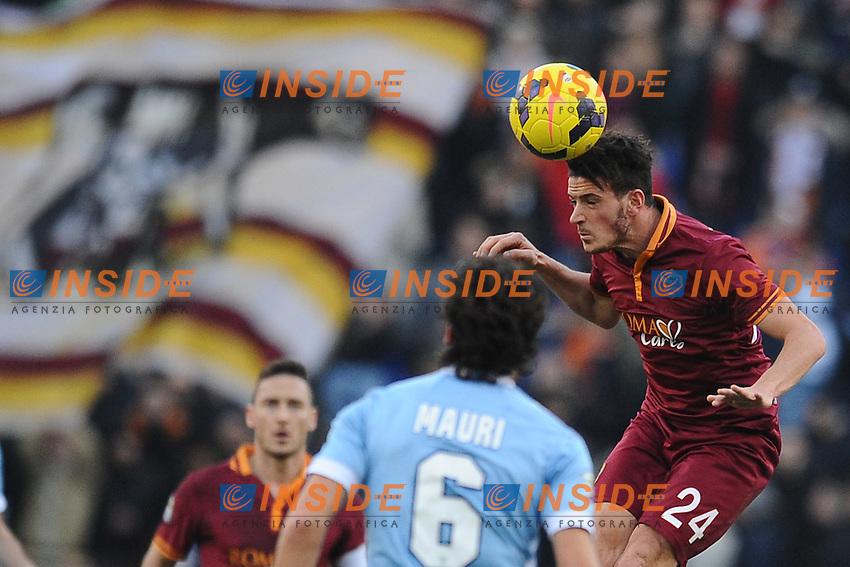 Alessandro Florenzi Roma.<br /> Roma 09-02-2014 Stadio Olimpico. Football Calcio 2013/2014 Serie A. Lazio - AS Roma. Foto Antonietta Baldassarre / Insidefoto