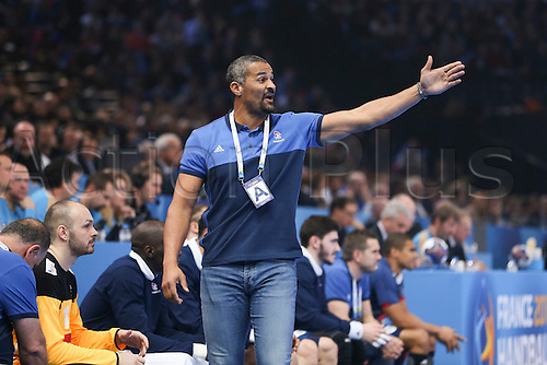 11.01.2017. Accor Arena, Paris, France. 25th World Handball Championships France versus Brazil. <br /> Didier Dinart (trainer/coach France)