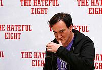 """Il regista statunitense Quentin Tarantino posa durante un photocall per la presentazione del suo nuovo film """"The Hateful Eight"""" a Roma, 28 gennaio 2016.<br /> U.S. director Quentin Tarantino poses during a photo call for the presentation of his new movie 'The Hateful Eight' in Rome, 28 January 2016.<br /> UPDATE IMAGES PRESS/Riccardo De Luca"""