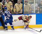 Scott Mathis (Air Force - 23), Steven Whitney (BC - 21) - The Boston College Eagles defeated the Air Force Academy Falcons 2-0 in their NCAA Northeast Regional semi-final matchup on Saturday, March 24, 2012, at the DCU Center in Worcester, Massachusetts.