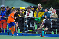 Action from the 2019 Hatch Cup Under-13 Boys' Hockey Tournament match between Central Otago and Tauranga at Fitzherbert Park Twin Turfs in Palmerston North, New Zealand on Friday, 11 October 2019. Photo: Dave Lintott / lintottphoto.co.nz