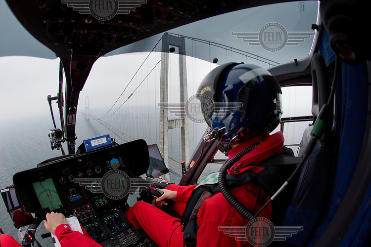 Denmarks first  air ambulance serivce, operated by Norwegian Air Ambulance. The crew is pilot Jan Nielsen, HEMS paramedic Lars Greve-Wilms and doctor Rikke Helene Rasmussen. <br /> <br /> The crew operate an Airbus EC-135 out of the Ringsted base, one of three bases in Denmark.