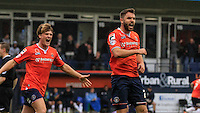 Josh McQuoid celebrates during  Luton Town and Plymouth Argyle at Kenilworth Road, Luton, England on 24 October 2015. Photo by Liam Smith.