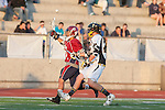 Mission Viejo, CA 05/11/11 - Kent Iizuka (St Margaret #11) and Cole Sutliff (Foothill-Santa Ana #21) in action during the St Margaret-Foothill boys varsity lacrosse game at Mission Viejo High School for the 2011 CIF Southern Section South Division Championship.  Foothill defeated St Margaret 15-10.