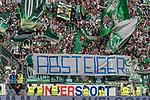 12.05.2018, OPEL Arena, Mainz, GER, 1.FBL, 1. FSV Mainz 05 vs SV Werder Bremen<br /> <br /> im Bild<br /> Werder Bremen Fans feiern den Abstieg von Hamburger SV / HSV in die 2. Liga mit Bannern, Spruchb&auml;ndern, Applaus, Jubel, Pyrotechnik, Gesang, <br /> &quot;Absteiger&quot;<br /> <br /> Foto &copy; nordphoto / Ewert