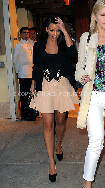 WWW.ACEPIXS.COM . . . . .  ....April 25 2012, New York City....Kim Kardashian leaves her downtown hotel on April 25 2012 in New York City....Please byline: CURTIS MEANS - ACE PICTURES.... *** ***..Ace Pictures, Inc:  ..Philip Vaughan (212) 243-8787 or (646) 769 0430..e-mail: info@acepixs.com..web: http://www.acepixs.com