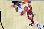 COLUMBUS, OH - MARCH 30: Teaira McCowan #15 of the Mississippi State Bulldogs and Sam Fuehring #3 of the Louisville Cardinals look for a rebound during a semifinal game of the 2018 NCAA Division I Women's Basketball Final Four at Nationwide Arena in Columbus, Ohio. (Photo by Ben Solomon/NCAA Photos via Getty Images)