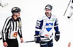 Stockholm 2014-10-02 Ishockey Hockeyallsvenskan AIK - BIK Karlskoga :  <br /> BIK Karlskogas Daniel Wessner ser nedst&auml;md ut n&auml;r han blir utvisad i slutet av den tredje perioden<br /> (Foto: Kenta J&ouml;nsson) Nyckelord:  AIK Gnaget Hockeyallsvenskan Allsvenskan Hovet Johanneshovs Isstadion Bofors BIK Karlskoga utvisning utvisad utvisas depp besviken besvikelse sorg ledsen deppig nedst&auml;md uppgiven sad disappointment disappointed dejected
