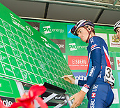 6th September 2017, Mansfield, England; OVO Energy Tour of Britain Cycling; Stage 4, Mansfield to Newark-On-Trent;  James Knox of Great Britain-GBR Team completes registration sign-in at Mansfield