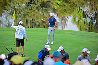 Dustin Johnson (USA) after sinking his putt on 17 during round 4 of the World Golf Championships, Mexico, Club De Golf Chapultepec, Mexico City, Mexico. 3/5/2017.<br /> Picture: Golffile | Ken Murray<br /> <br /> <br /> All photo usage must carry mandatory copyright credit (&copy; Golffile | Ken Murray)