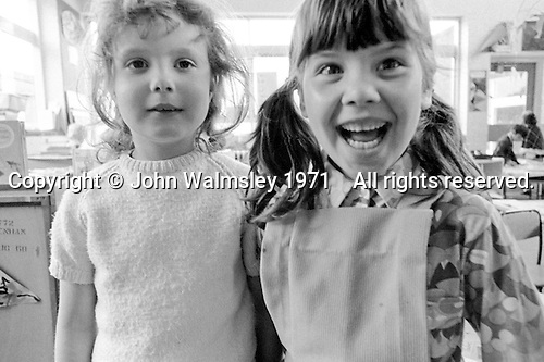 Kids at Julian's Primary School, Streatham, London.  1971.