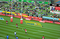 Kenya v Samoa. 2018 HSBC World Sevens Series Hamilton at FMG Stadium in Hamilton, New Zealand on Saturday, 3 February 2018. Photo: Dave Lintott / lintottphoto.co.nz