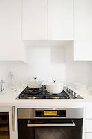 modern white cupboards