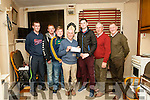 After a very successful run with &quot;Sive&quot; by John B. Keane,<br />  Dick Woulfe of Abbeyfeale Drama Group  presenting a cheque to Duagh Hurlers .<br /> L-R Michael O' Sullivan, Brian O' Connell, Gavin Buckley, Dick Woulfe, Darragh O' Connor and drama group members Pat Scannell &amp; Richie Roche.