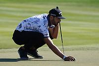 Erik Van Rooyen (RSA) on the 8th during Round 1 of the Abu Dhabi HSBC Championship 2020 at the Abu Dhabi Golf Club, Abu Dhabi, United Arab Emirates. 16/01/2020<br /> Picture: Golffile | Thos Caffrey<br /> <br /> <br /> All photo usage must carry mandatory copyright credit (© Golffile | Thos Caffrey