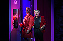 """EMBARGOED UNTIL 23:00 FRIDAY 18 OCTOBER 2019: London, UK. 16.10.2019.  English National Opera presents """"The Mask of Orpheus"""", by Sir Harrison Birthwhistle, libretto by Peter Zinovieff, at the London Coliseum, in its first London restaging in the 30 years since its premiere, coinciding with the celebration of Sir Harrison's 85th birthday. Directed by Daniel Kramer, with lighting design by Peter Mumford, set design by Lizzie Clachan and costume design by Daniel Lismore. Picture shows: Daniel Norman (Orpheus the Myth), Peter Hoare (Orpheus the Man). Photograph © Jane Hobson."""