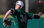 Pitcher Austin Goss (34) of the University of South Carolina Upstate Spartans in a game against the Citadel Bulldogs on Tuesday, February, 18, 2014, at Cleveland S. Harley Park in Spartanburg, South Carolina. Upstate won, 6-2. (Tom Priddy/Four Seam Images)