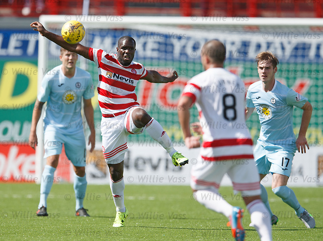 Christian Nade wins the ball for Hamilton