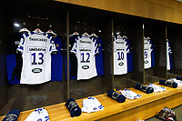 A general view of the away changing rooms. Heineken Champions Cup match, between Leinster Rugby and Bath Rugby on December 15, 2018 at the Aviva Stadium in Dublin, Republic of Ireland. Photo by: Patrick Khachfe / Onside Images