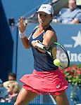 Varvara Lepchenko (USA) loses to Victoria Azarenka (BLR) 6-3, 6-4 at the US Open in Flushing, NY on September 7, 2015.