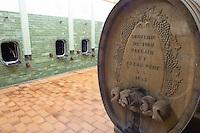 old carved wooden vat aime stentz & fils wettolsheim alsace france