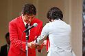 Kenjiro Iijima (JPN), JULY 22, 2016 - Triathlon : Japan national triathlon team send-off party for the Rio 2016 Olympic Games in Tokyo, Japan. (Photo by Sho Tamura/AFLO SPORT)