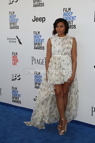 SANTA MONICA, CA - FEBRUARY 25: Taraji P. Henson attends the 2017 Film Independent Spirit Awards at Santa Monica Pier on February 25, 2017 in Santa Monica, California.  (Credit: Parisa Afsahi/MediaPunch).
