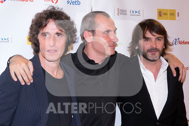 29.05.2012. Premiere at the Callao Cinema in Madrid of the movie ?En Fuera De Juego? (offside) directed by David Marques. In the image Diego Peretti, David Marques and Fernando Tejero (Alterphotos/Marta Gonzalez)