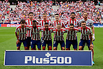 Team photo of Atletico de Madrid during La Liga match between Atletico de Madrid and SD Eibar at Wanda Metropolitano Stadium in Madrid, Spain.September 01, 2019. (ALTERPHOTOS/A. Perez Meca)